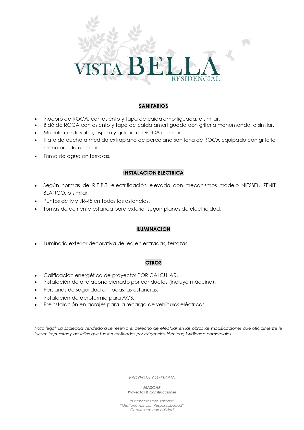 MEMORIA DE CALIDADES - Pag.3