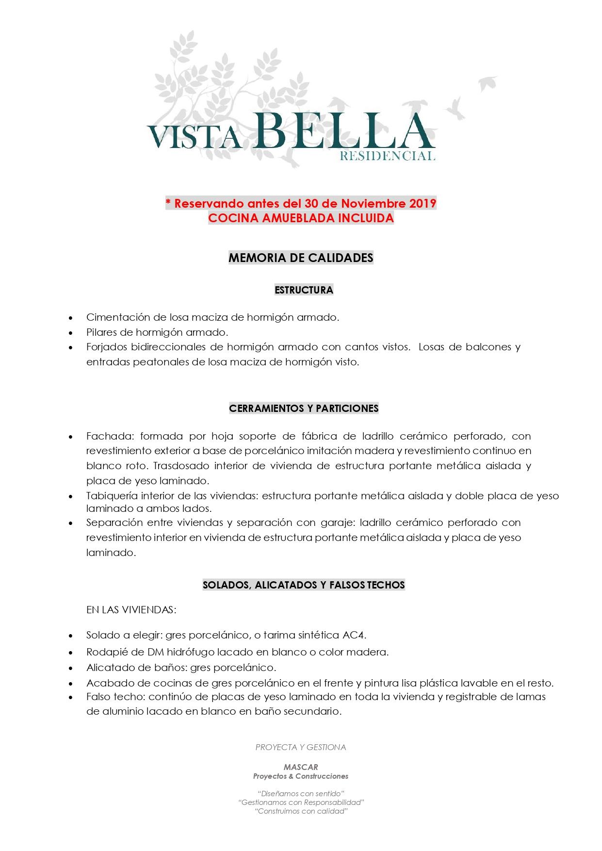 MEMORIA DE CALIDADES - Pag.1
